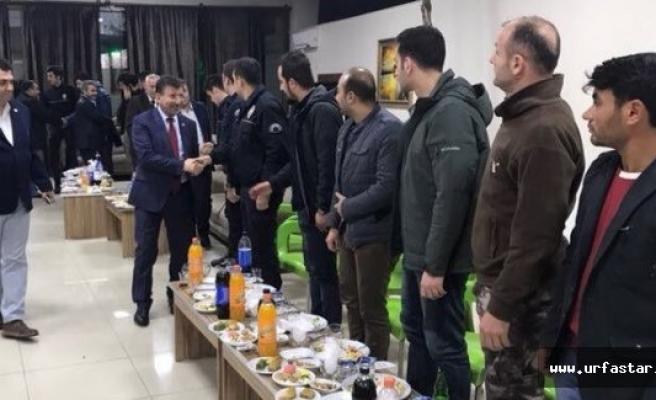 Cevheri ve Şimşit polislerin yeni yılını kutladı