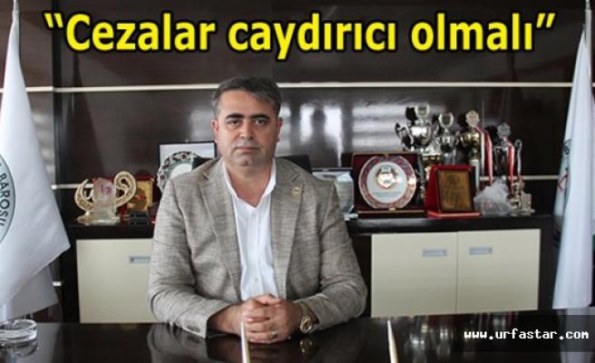 Baro Başkanı Tüysüz'den dikkat çeken açıklama!
