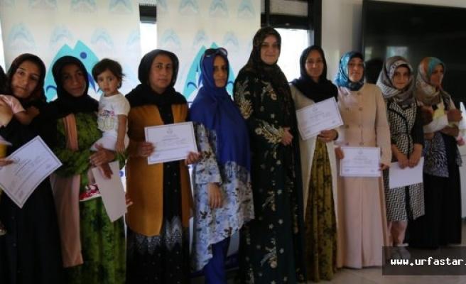 Başarılı Urfa kadınları sertifikalarını aldı