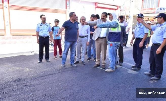 Başkan Atilla, Gazi Caddesi'ndeki Çalışmaları İnceledi