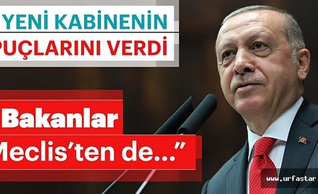 Erdoğan yeni sistemin ilk kabinesini açıkladı...
