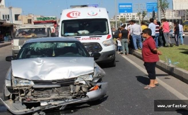 Urfa'da tarfik kazası: 4 kişi yaralandı