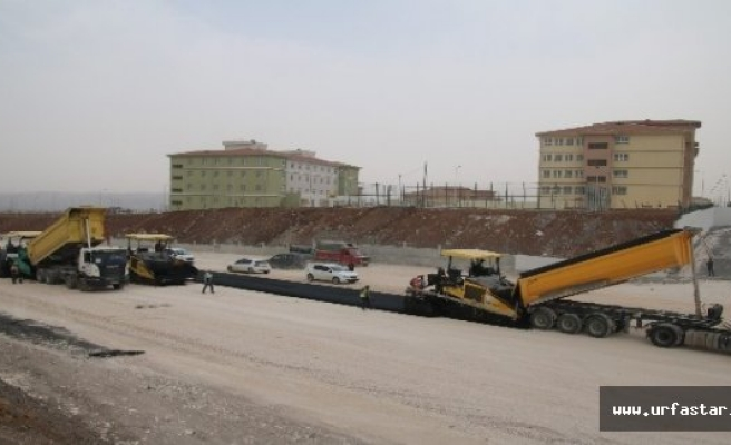 Eğitim kampüsü yolu yapılıyor