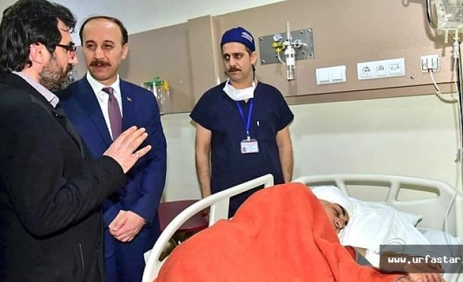 Vali Erin, Meydan Hastanesinde tedavi gören kazazedeleri ziyaret etti