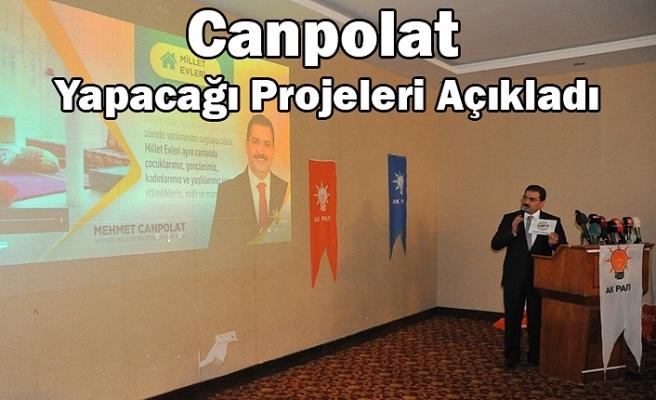 Canpolat, 'Projelerimizi vatandaşlarımızdan aldık'