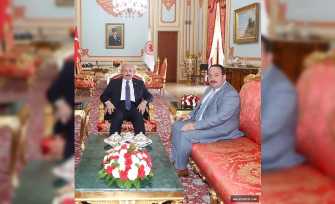 Meclis Başkanını ziyaret etti...