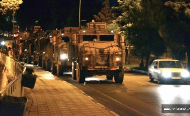 Suriye sınırına askeri sevkiyat...