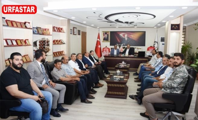 Vekil Özcan'dan Hilvan Belediyesine ziyaret