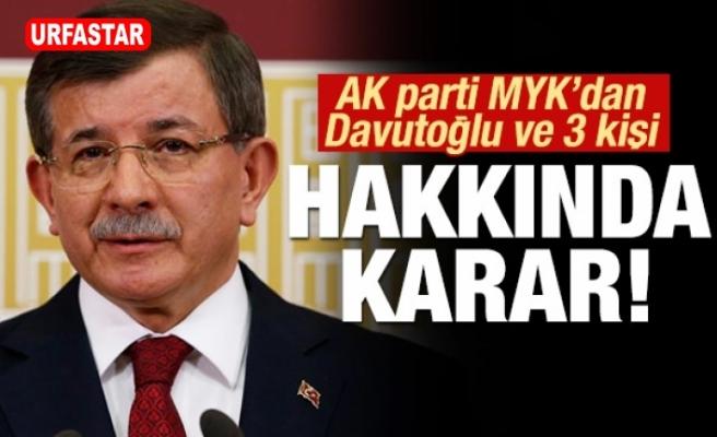 Davutoğlu ile birlikte 3 ismin daha kesin ihracı istendi!