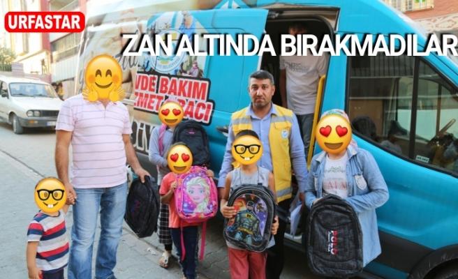 Haliliye'de okul başlayan öğrencilere yardım...