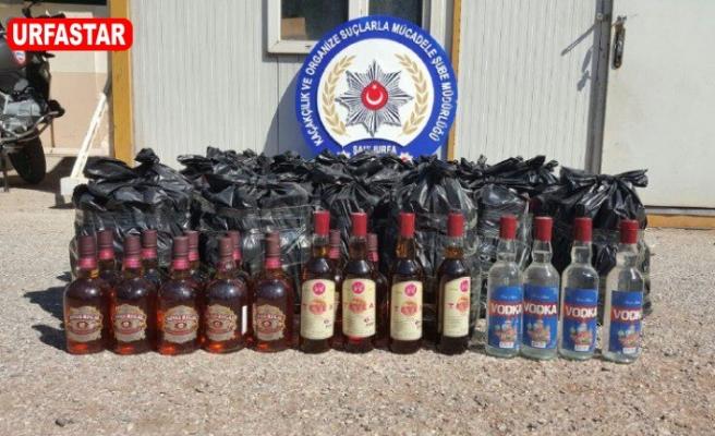 Urfa'da onlarca kaçak içki ele geçirildi