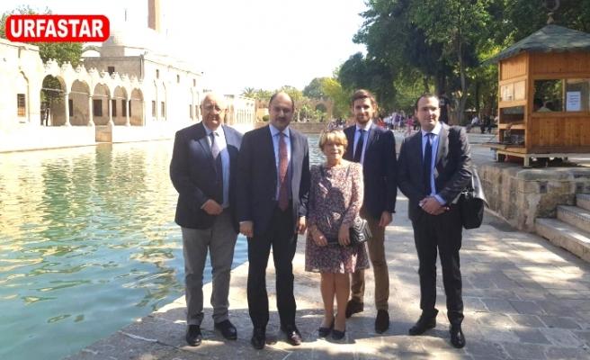 AB Uyum Komisyon Başkanı Gülpınar, Urfa'da Fransızları gezdirdi