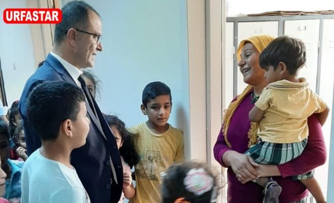 İlçeyi terketmek zorunda kalan Ceylanpınarlı aileleri ziyaret etti