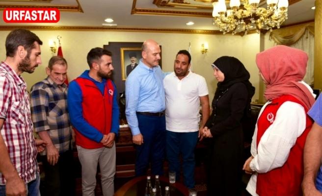Erdoğan şehit olan bebeğin ailesi ile görüştü