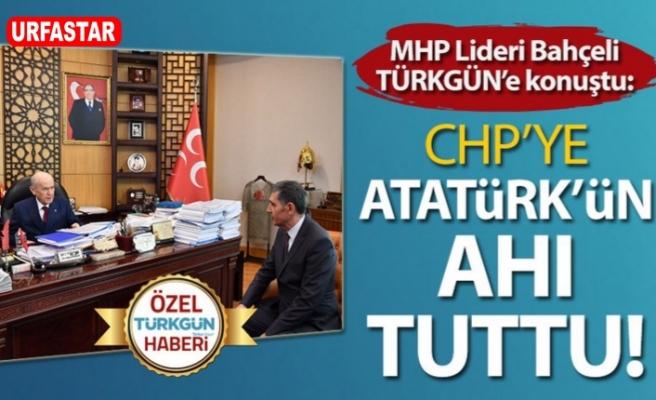 Bahçeli Türkgün'e konuştu