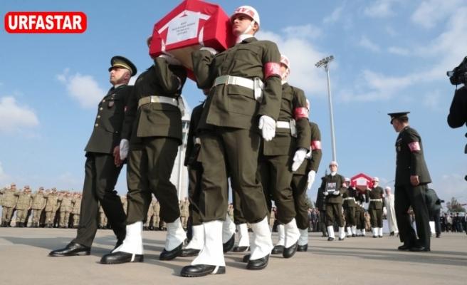 Barış Pınar Harekatı Şehitleri son yolculuğuna ugurlandı