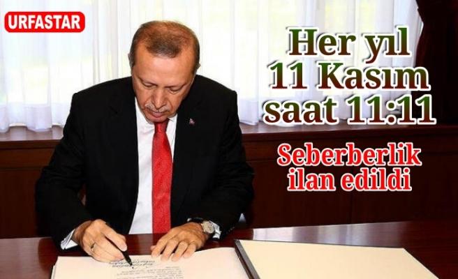 Erdoğan ilan etti...