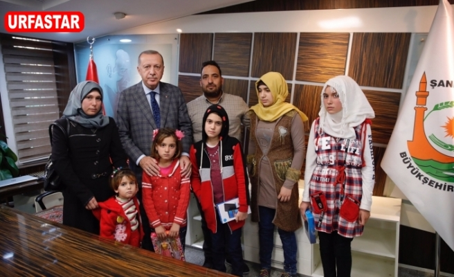 Erdoğan, şehit olan 9 aylık bebeğin ailesi ile buluştu
