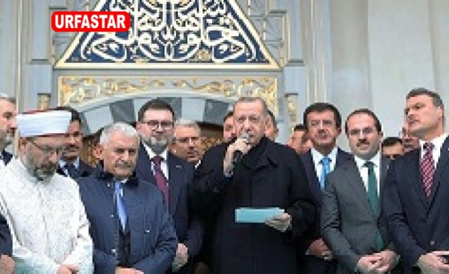 Erdoğan 'Şehrimize yakışan bir eser oldu!' Açılışını yaptı...