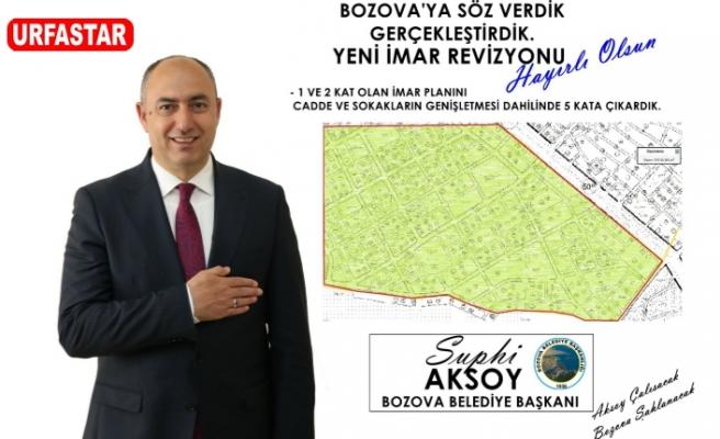 Bozova'da imar revizyonu devam ediyor