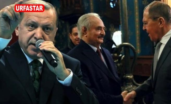 Erdoğan'dan masadan kaçan Hafter'e sert sözler: