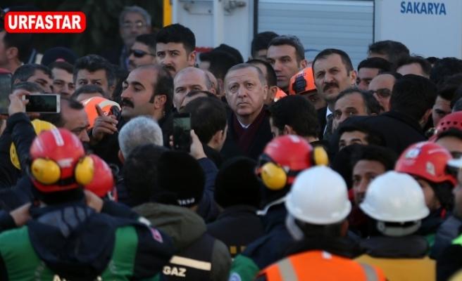 Erdoğan deprem bölgesinde...