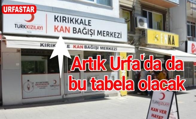 Kızılay'ın kan merkezi Urfa'da kuruluyor