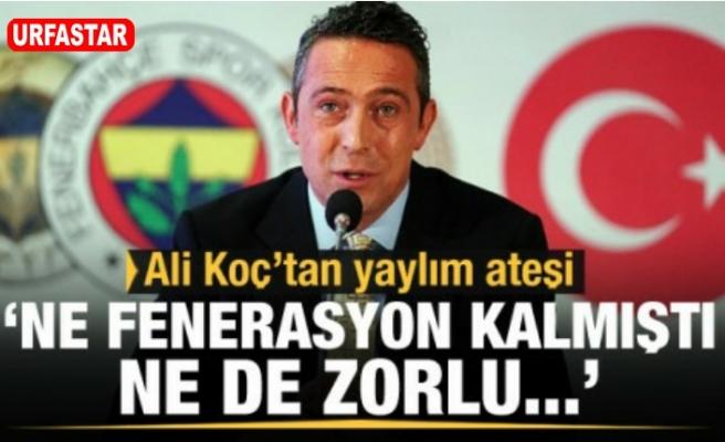 Ali Koç'tan zehir zemberek sözler...
