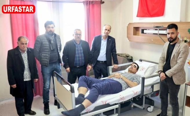 Başkan Yavuz yaralıları ziyaret etti