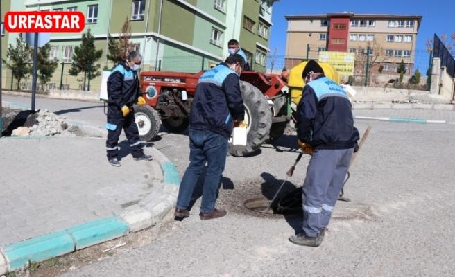 Bozova Belediyesi ekipleri iş başında...
