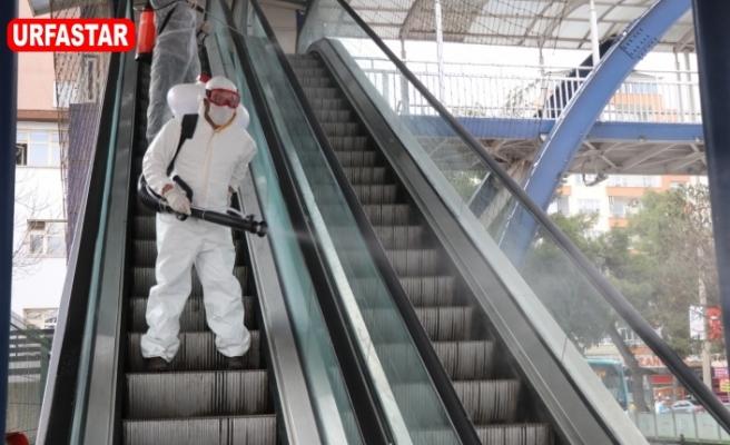 Büyükşehir dezenfekte çalışmalarını sürdürüyor