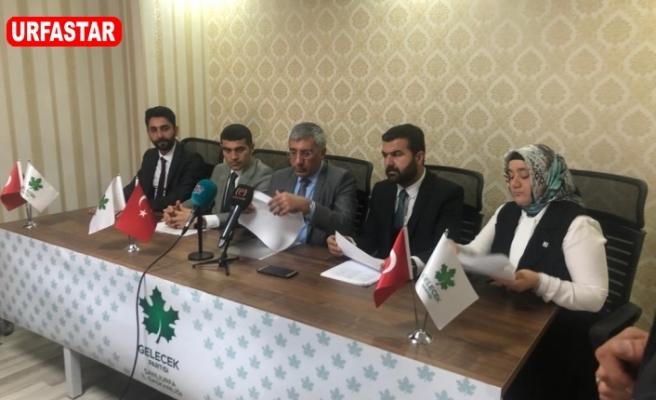Gelecek Partisi Urfa'da A takımını kamuoyuna tanıttı