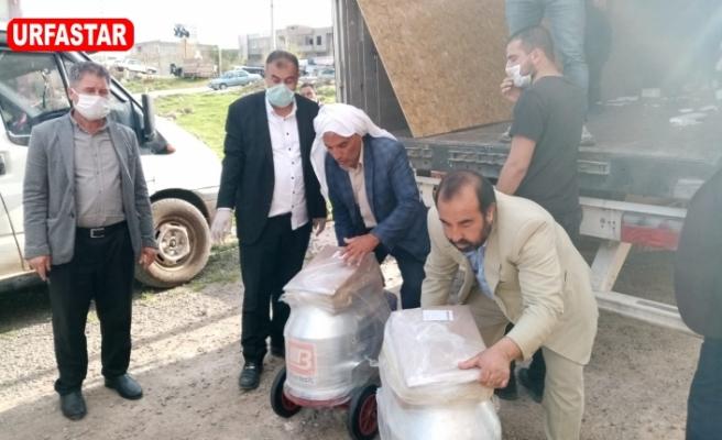 Süt üreticilerine dağıtıldı...