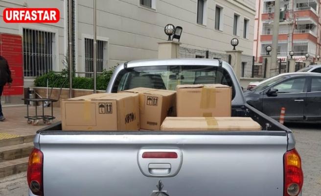 Urfa'da ilçelere binlerce maske gönderildi