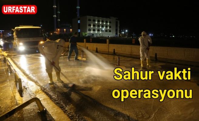 Eyyübiye Belediyesi ilçedeki hastaneyi dezenfekte etti