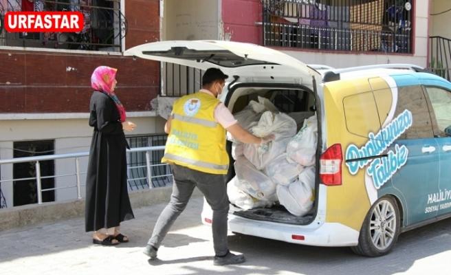 Haliliye'de yardımlar sürüyor