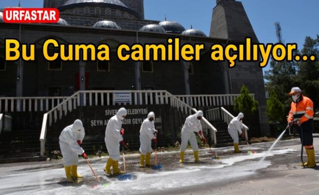Siverek'te camiler temizlenmeye başlandı