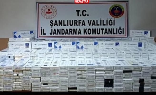 Urfa'da kaçak sigara operasyonu...