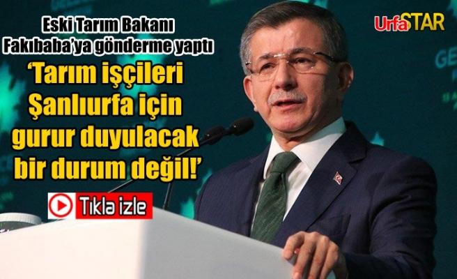 Davutoğlu'ndan tarım işçileri için flaş açıklama...