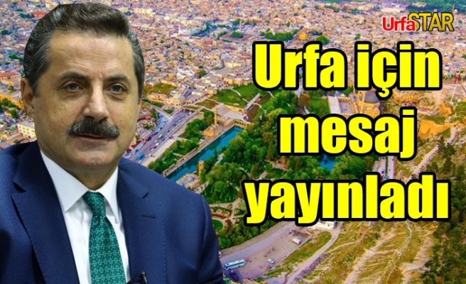 Faruk Çelik, Urfa'yı unutmadı!