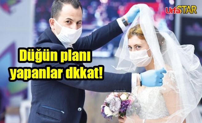Urfa Valiliği, düğünlerle ilgili kararlar aldı