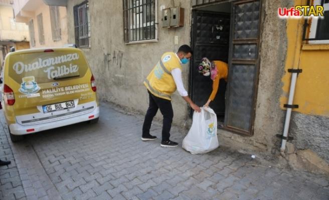 Haliliye Belediyesi Karantina evlerine ulaşmaya devam ediyor