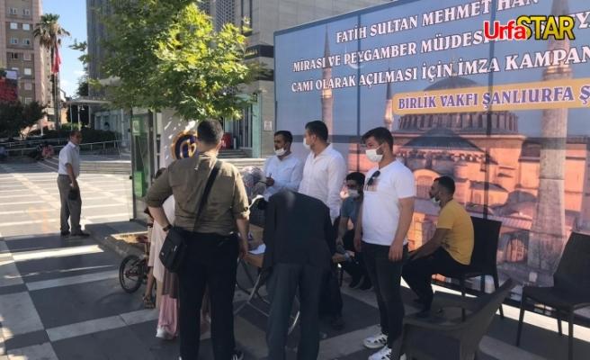 Urfa imza kampanyasına katılım sağladı