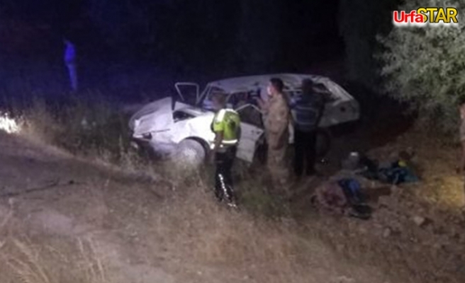 Urfa'da otomobil şarampole devrildi