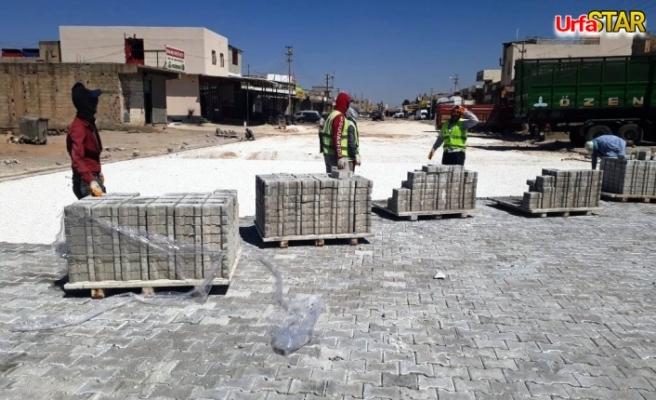 Akçakale'de sanayi sitesi yolları yenileniyor