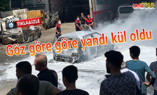 Evren Sanayi'de araç yangını!