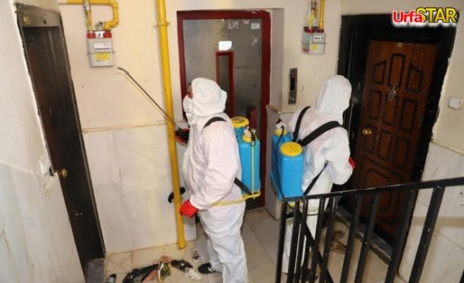 Karaköprü'de dezenfekte çalışmaları sürüyor