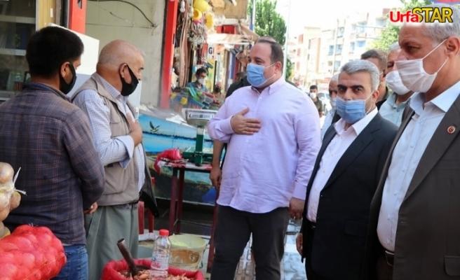 Viranşehir'de 2 Başkan esnafı gezdi