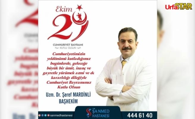 Başhekim Mardinli'den kutlama...