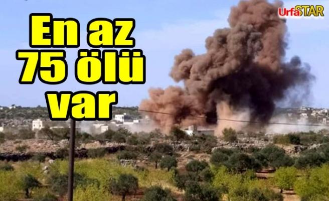 Rus savaş uçakları İdlip'te kampı vurdu!